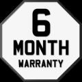 6 Month Warranty